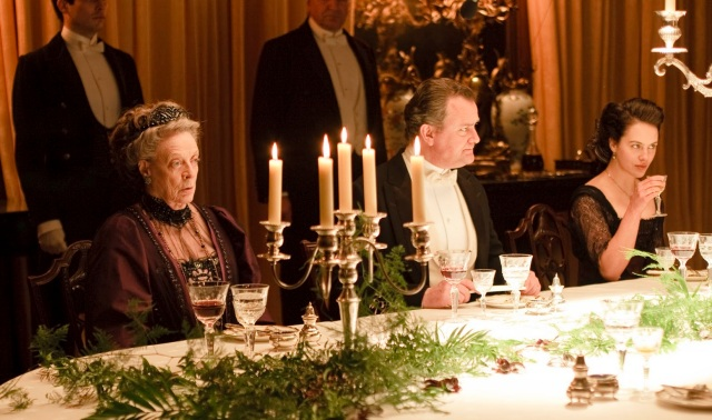 Look at the Dowager Countess' face. She must be seated across from my children.