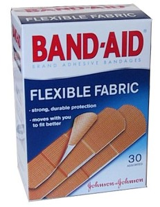 Bandages to keep your well-learned lessons from getting on the carpet.