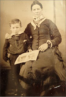 Wyatt Earp and his Mom. I'll bet she didn't even have a Moby wrap.
