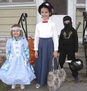 Blue Princess, Mary Poppins, Ninja who insisted on carrying the Minotaur head for the third year in a row.